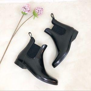 Sam Edelman Chelsea black rain boots